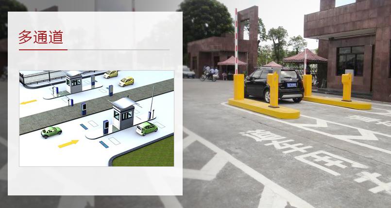 多通道停车场道闸系统